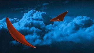 가오리처럼 생긴 우주선이 금성 상공을 날아다니는 상상도(출처:© CRASH Lab, University at Buffalo)