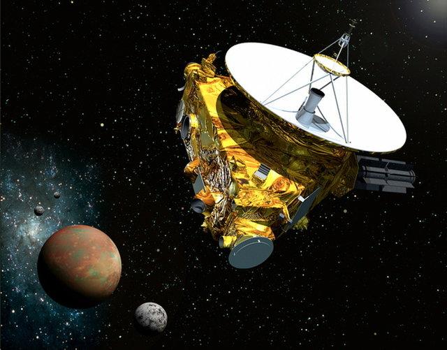 2015년 7월 뉴호라이즌스가 역사적인 명왕성 근접비행을 하는 상상도. (출처=Johns Hopkins University Applied Physics Laboratory/Southwest Research Institute)