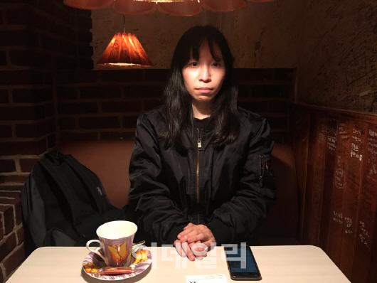 19일 서울 흑석동 한 카페에서 만난 홍콩 유학생 람위엔샨씨. (사진=김보겸 기자)