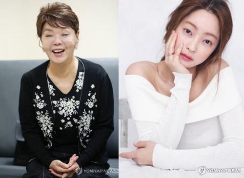 김수미(왼쪽)와 서효림 [연합뉴스 자료사진]