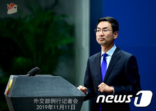 겅솽 중국 외교부 대변인 © 뉴스1