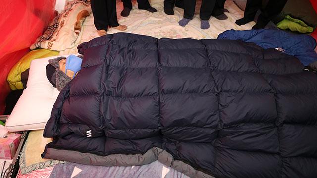 단식 7일째를 맞은 황교안 자유한국당 대표