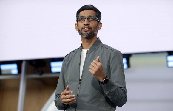구글의 모회사인 알파벳의 새 최고경영자(CEO)로 지목된 순다르 피차이.AP 연합뉴스
