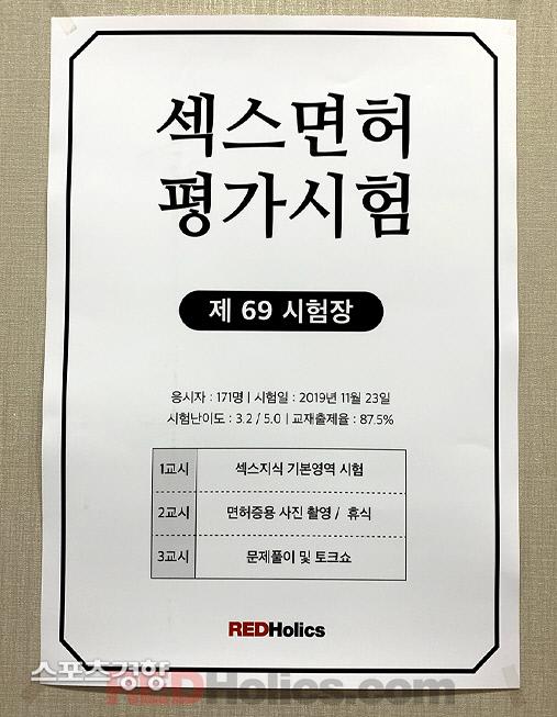 섹스면허평가시험이 지난달 9일 서울 홍대입구역 근처에서 열렸다. 레드홀릭스 제공