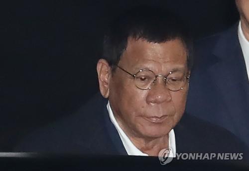 두테르테 필리핀 대통령 [연합뉴스 자료 사진]