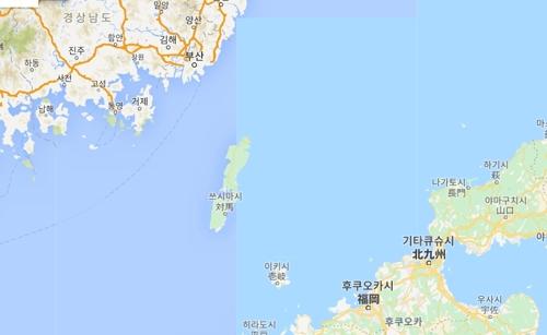 쓰시마 위치도 [구글 지도 캡처]