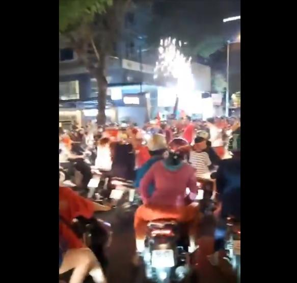 우승에 기뻐하는 베트남 시민들. SNS