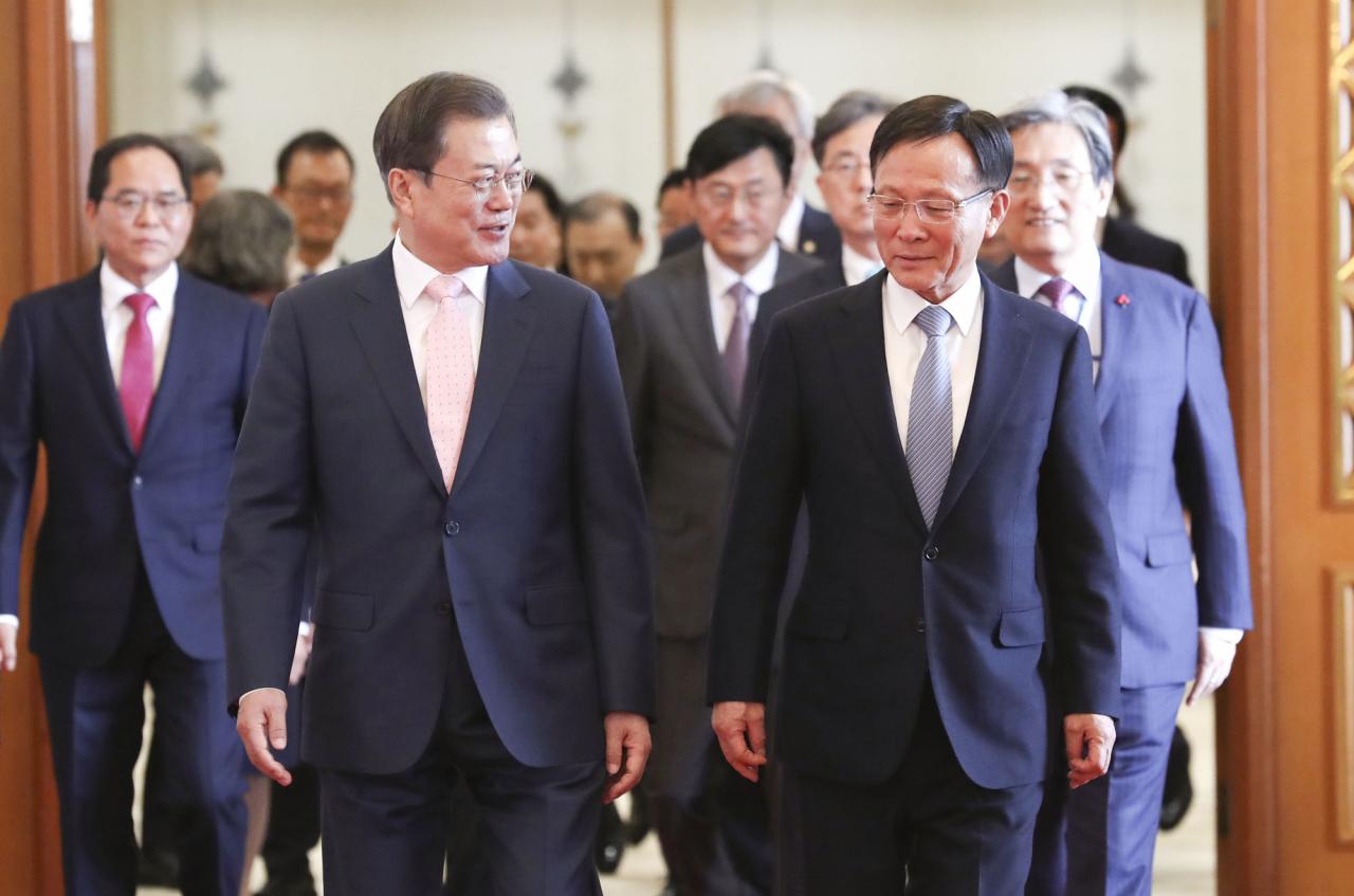 문대통령, 이수혁 美대사 등