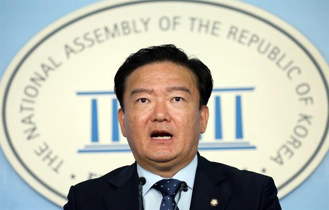 민경욱 자유한국당 의원. 뉴스1