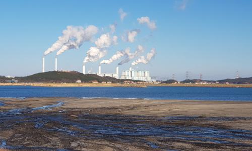 충남 당진시 석문면 당진석탄화력발전소 전경. 당진화력발전소 민간환경감시센터 제공