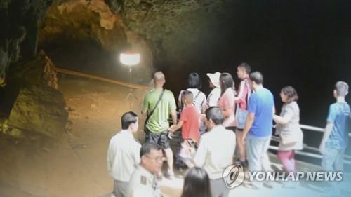 태국 소년들 구조된 기적의 동굴 일반에 재개방 (CG) [연합뉴스TV 제공]