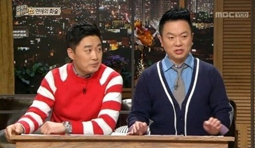 논란이 된 정찬우 의상(왼쪽). /사진=MBC '컬투의베란다쇼' 방송화면 캡처
