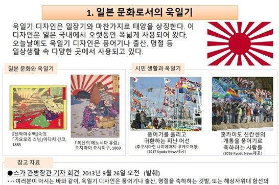 일본 외무성에 게재된 욱일기 관련 설명(한국어판). /사진=일본 외무성 홈페이지 캡처