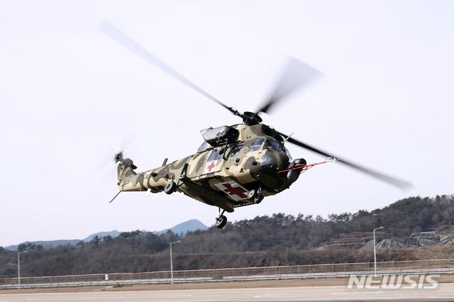[서울=뉴시스]의무후송 전용헬기(KUH-1M). 2018.12.14. (사진=KAI 제공)