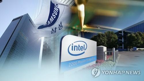 '반도체 코리아' 흔들…삼성전자, 인텔에 다시 밀려 (CG) [연합뉴스TV 제공]