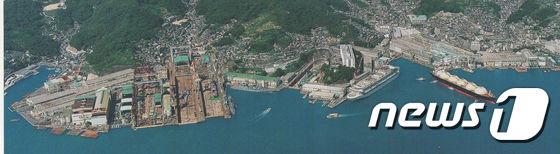 일본 미쓰비시 중공업 나가사키 조선소 전경(미쓰비시 중공업 제공) © News1