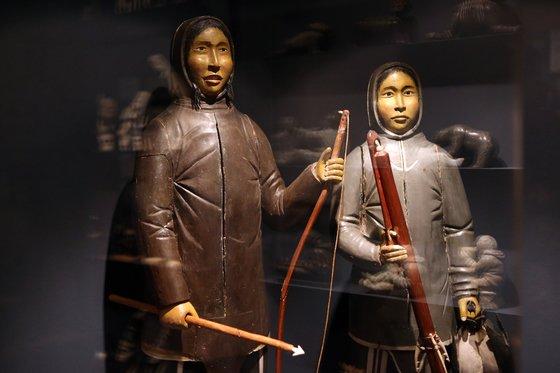 그린란드 수도 누크의 전통박물관. 이땅에 5000여년 살아온 원주민 이누이트의 삶이 묘사돼 있다. 최정동 기자
