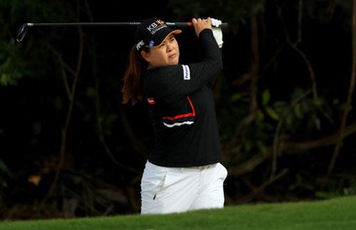박인비는 15일 열린 LPGA 투어 ISPS 한다 호주여자오픈 3라운드에서 단독 선두로 도약했다. 사진=ⓒAFPBBNews = News1