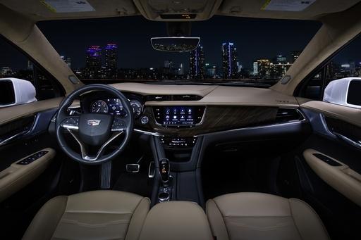 16일 캐딜락이 공개한 대형 3열 SUV XT6 내부. 캐딜락 제공