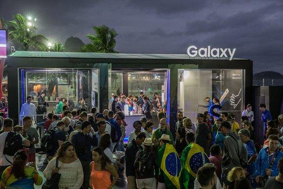 2016년 브라질 리우데자네이루 올림픽 당시 '갤럭시 스튜디오'의 모습. 사진 삼성전자