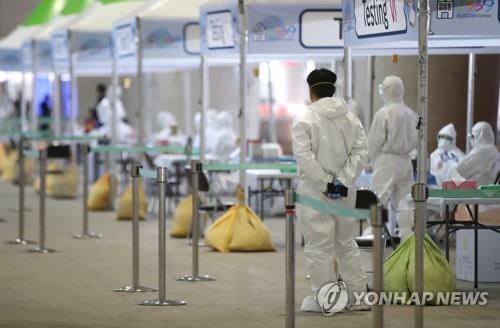 개방형 선별진료소 설치된 인천국제공항 [연합뉴스]