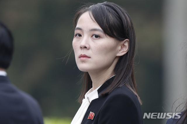 【서울=AP/뉴시스】김여정 노동당 선전선동부 제1부부장. 2019.03.02.