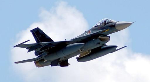 일본 항공자위대 F-2 전투기가 훈련을 위해 비행하고 있다. 세계일보 자료사진
