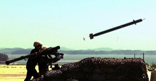 육군 신궁 지대공미사일이 탐색기 성능검증을 위해 발사되고 있다. 세계일보 자료사진
