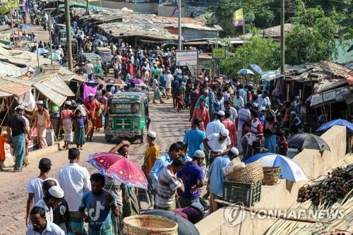 방글라데시 콕스 바자르의 로힝야 난민캠프 [로이터=연합뉴스]