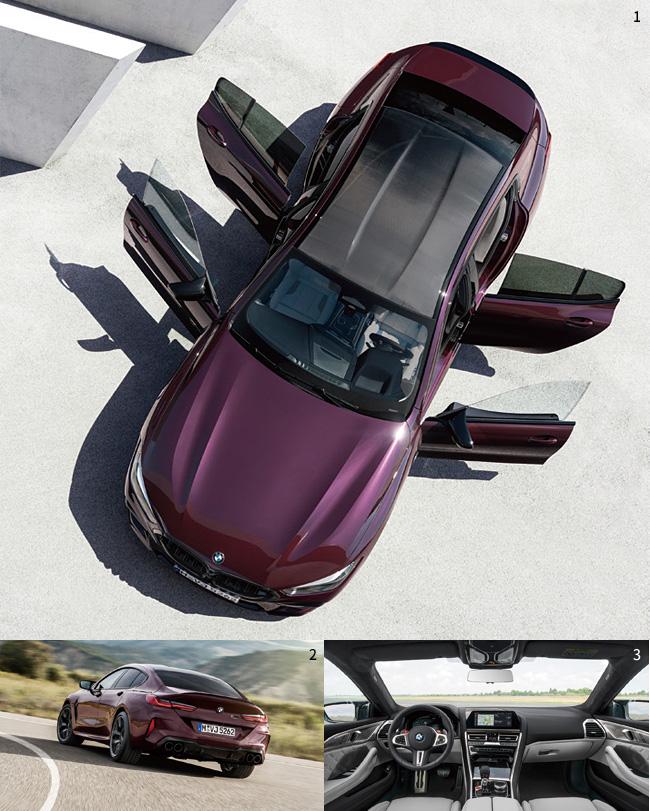 1 BMW 뉴 M8 그란 쿠페 컴페티션은 BMW의 4도어 쿠페 모델 중 가장 강력한 주행 성능을 발휘한다. 사진 BMW2 BMW 뉴 M8 그란 쿠페 컴페티션 뒷모습. 사진 BMW3 BMW 뉴 M8 그란 쿠페 컴페티션 앞좌석. 사진 BMW