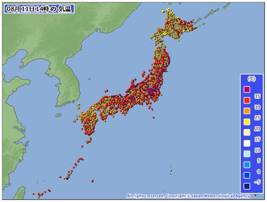 펄펄 끓는 일본 열도..수도권 일부 지역 40도 넘어[컷 토토|펠리스 토토]