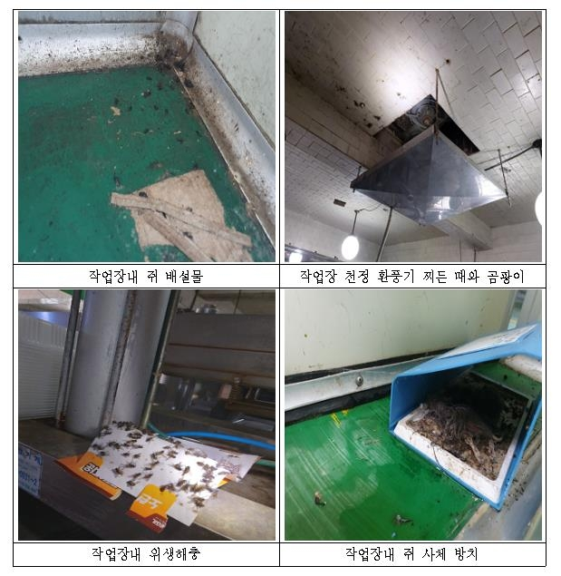 환풍기에 곰팡이, 바닥엔 동물 배설물..위생불량 식품업체 적발[네임드 토토|유투브 토토]