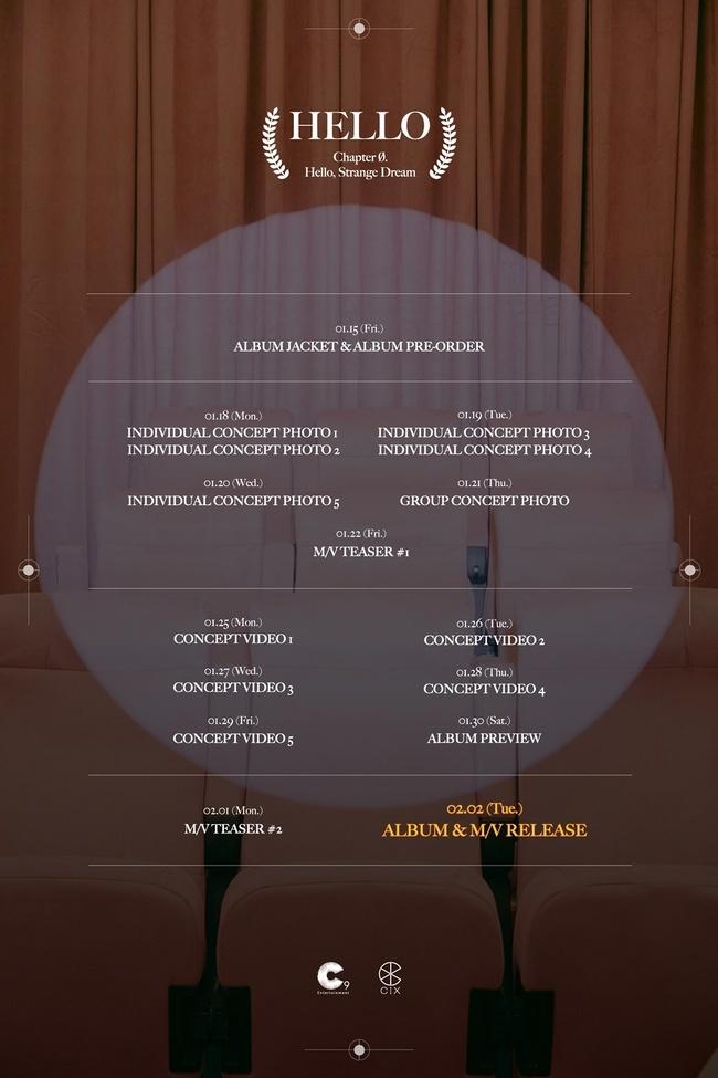 2일(화), CIX 미니 앨범 4집 '안녕, 낯선 꿈(Chapter Ø. Hello, Strange Dream) (타이틀 곡:Cinema)' 발매   인스티즈