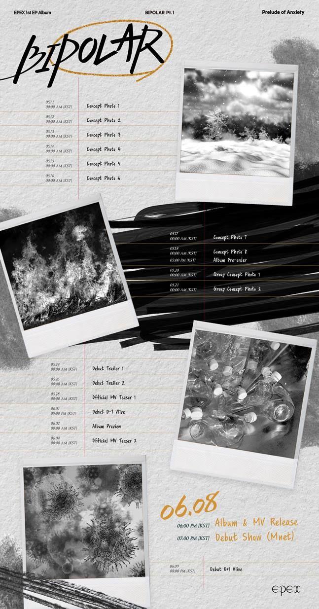 8일(화), 이펙스(EPEX) 미니 앨범 1집 'Bipolar Pt.1 불안의 서' 발매 | 인스티즈