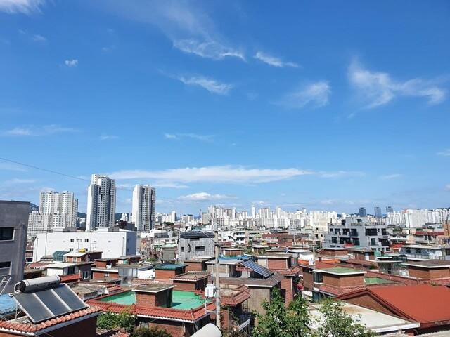 성북구 장위9구역의 모습.