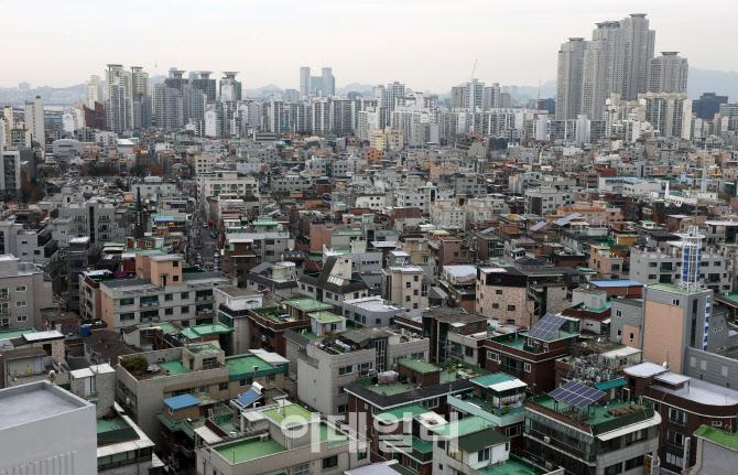 서울 광진구 자양동 일대 빌라 및 다세대 주택 밀집 지역