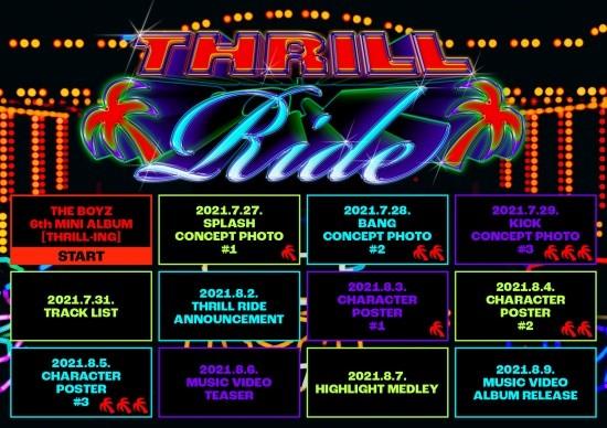 9일(월), 더보이즈 미니 앨범 6집 'THRILL-LING (타이틀 곡: THRILL RIDE)' 발매 | 인스티즈