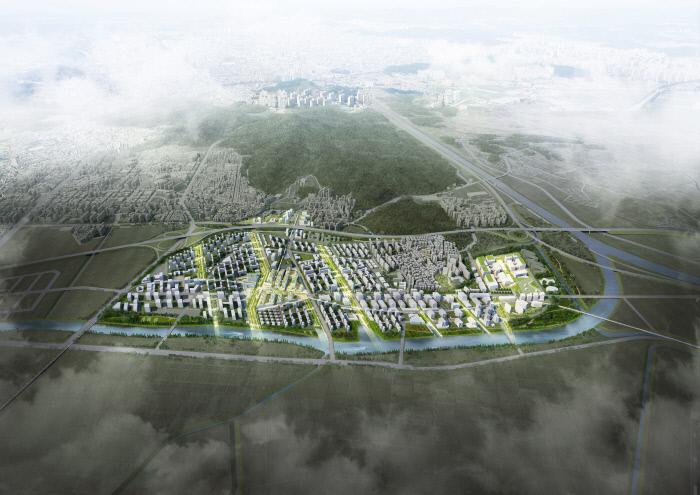 1차 사전청약 대상지구인 인천계양 신도시의 완공 후 가상 조감도. 한국토지주택공사 제공