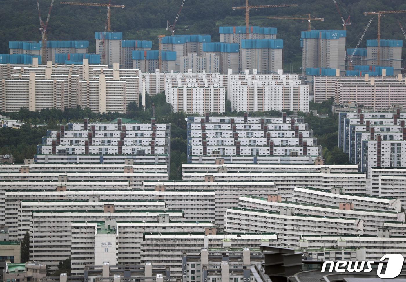 서울 아파트 단지의 모습. © News1 신웅수 기자
