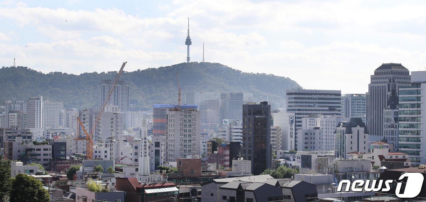 서울 시내의 오피스텔 밀집 지역 모습. 2021.9.15/뉴스1 © News1 임세영 기자