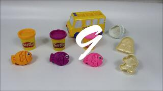 Kindergarten Bus and Kinder Joy Chocolate Toy Fish with Play