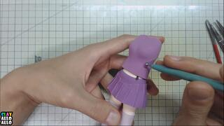 Clay art -  Miku Hatsune/하츠네 미쿠/Color clay/alloallo Clay/피규어