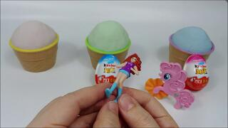 Hello Kitty Doll Play and Kinder Joy Chocolate Toy Sand Play