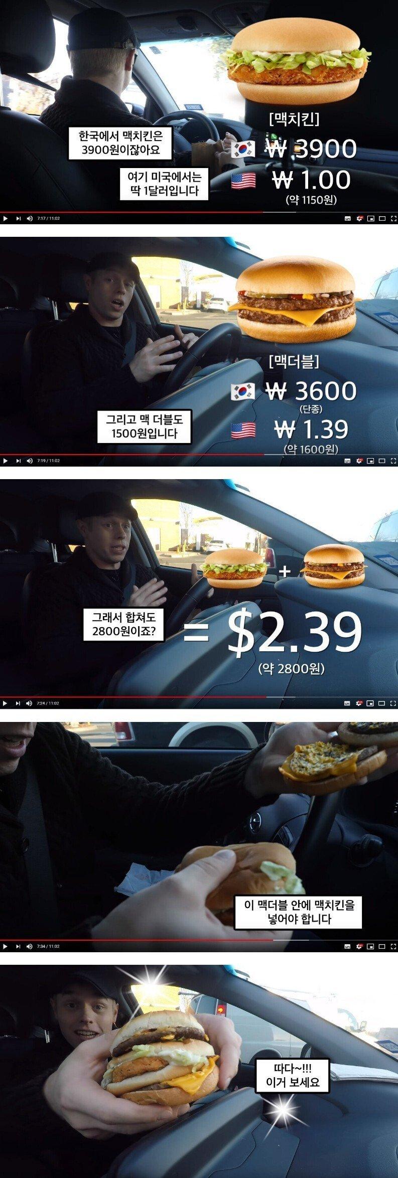 미국인이 햄버거를 먹는법