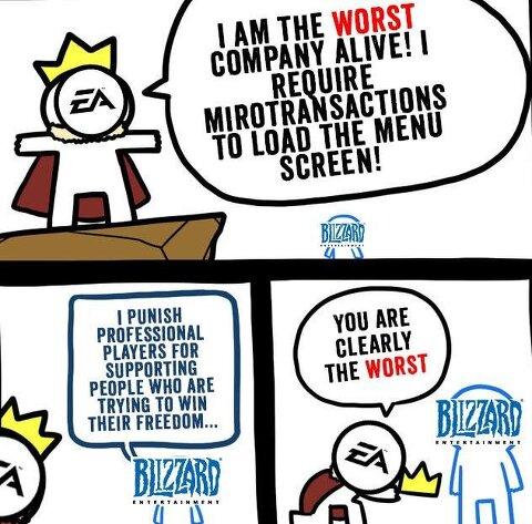 [유머]EA는 블리자드에게 왕좌를 내주었다