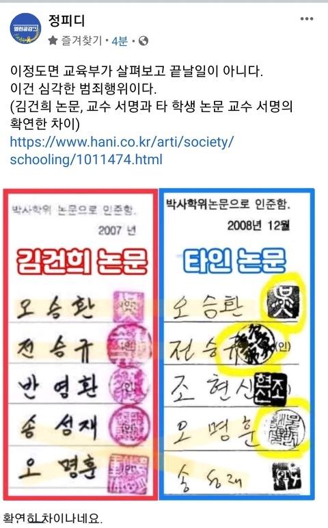 국민대가 김건희 논문을 건드리지 않는 이유는...