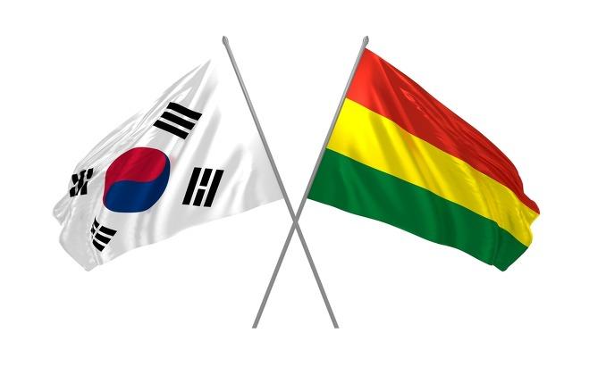 한국과 볼리비아의 국기