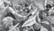 서로 싸우는 켈트족 전사들(H. R. 밀러, 1905)
