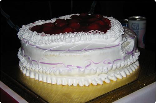 송별 케이크
