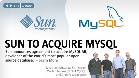 SUN TO ACQUIRE MYSQL